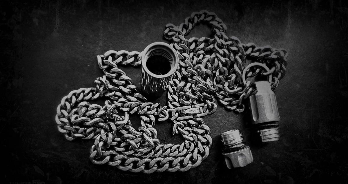 Covert Titanium EDC Necklace Cache