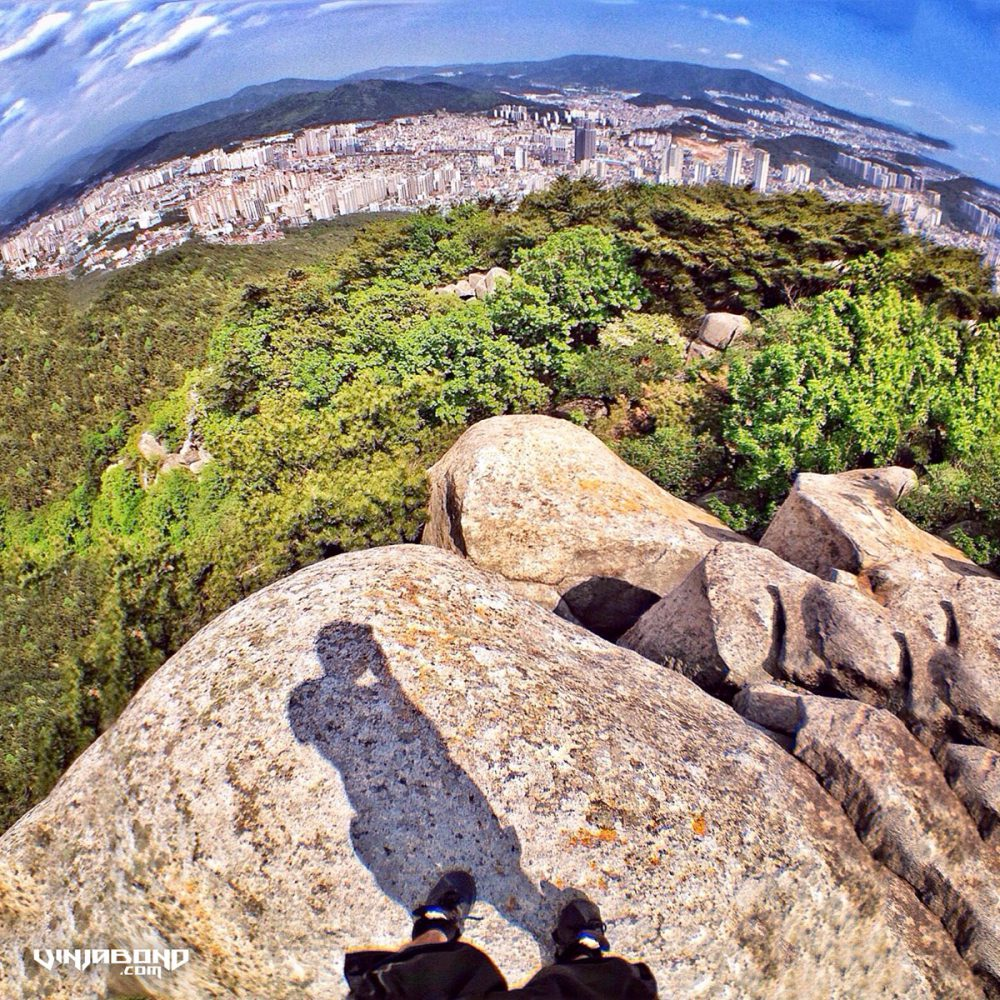 On The Peak of Busan Mountain, Korea