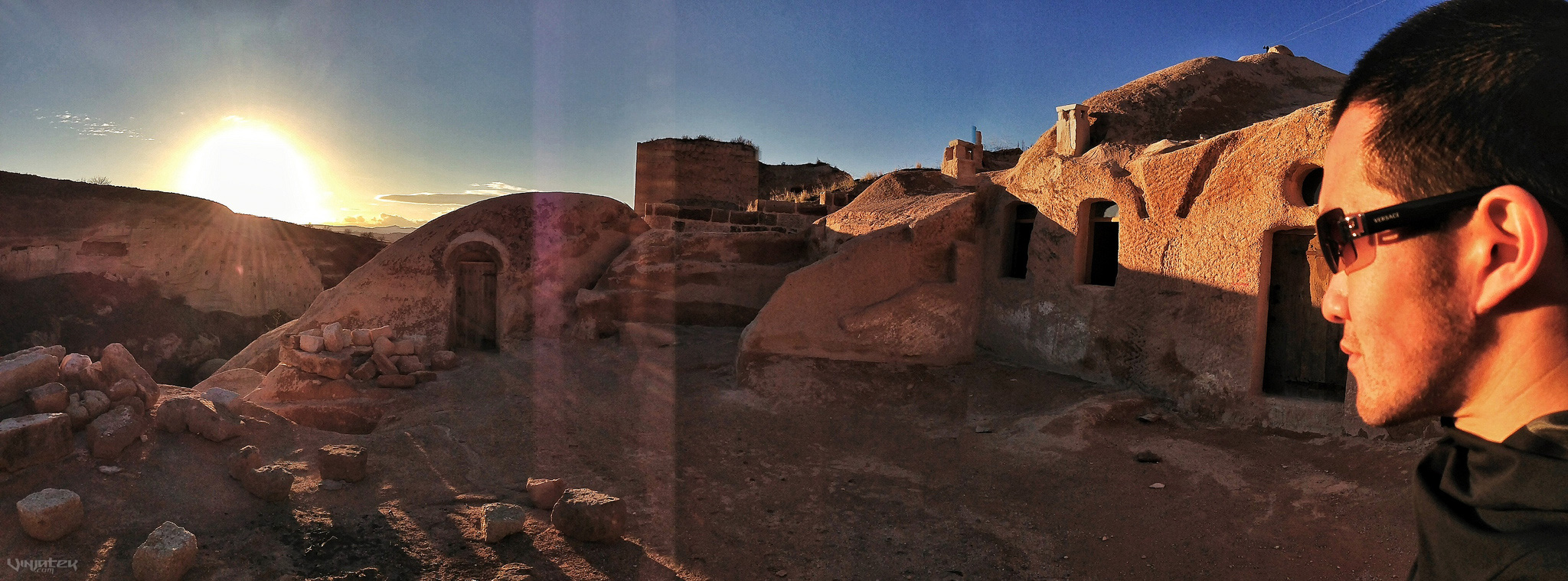 - Sunset Over The Cave Village of Cappadocia, Turkey -