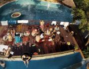- People Watching at Pool Party in Luang Prabang, Laos -