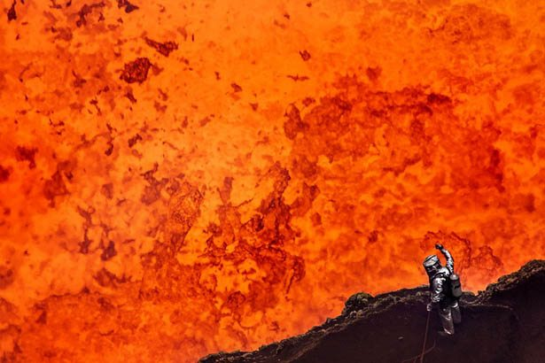 - Watching Lava Flow From an Erupting Volcano -