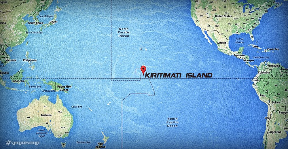 Kiritimati Island Map ///