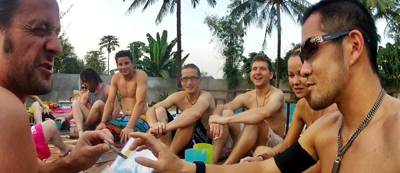 Pool Party in Luang Prabang, Laos /// Vinjatek