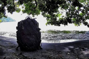 FAST Pack EDC Backpack on a Beach in Penang, Malaysia /// Vinjatek