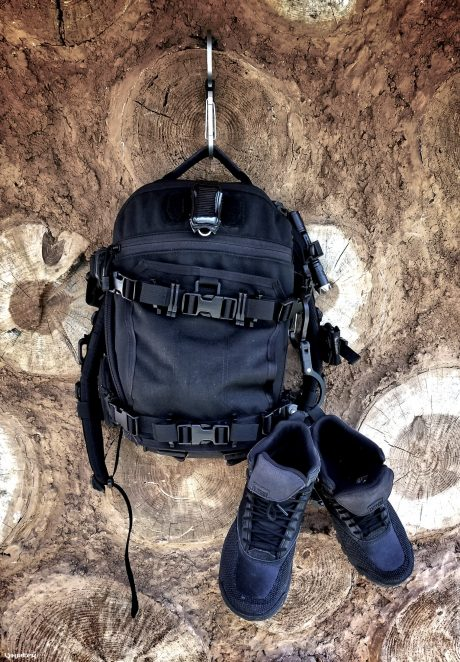 Heroclip with FAST Pack Scout Backpack and LALO Shadow Amphibian Boots /// Vinjatek