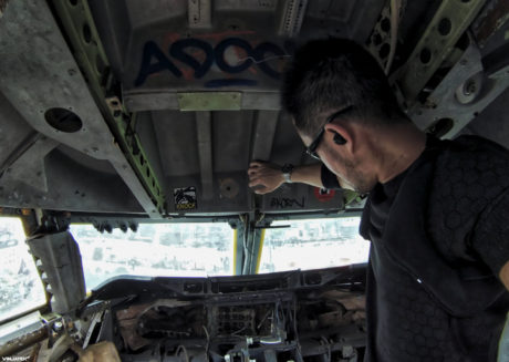 Airplane Graveyard Cockpit at Bangkok, Thailand /// Vinjatek