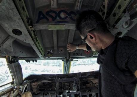 Airplane Graveyard Cockpit at Bangkok, Thailand /// Vinjatek