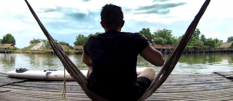 On a Hammock at Swimming Lake Restaurant in Battambang, Cambodia /// Vinjatek