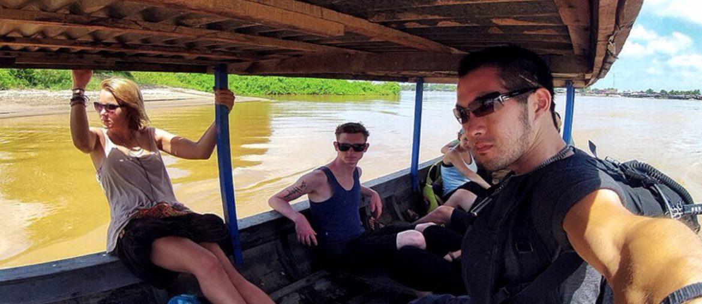 On The Longboat Ferry to Don Det Island of The 4000 Islands in Laos /// Vinjatek