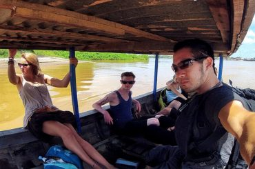 On The Longboat Ferry to Don Det Island of The 4000 Islands in Laos /// Vinjatek
