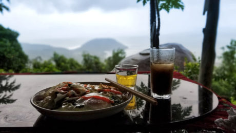 A pit stop restaurant on the Hai Van Pass in Vietnam /// Vinjatek
