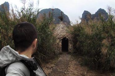 Tribe Hut at Kong Skull Island in Nina Binh, Vietnam /// Vinjatek
