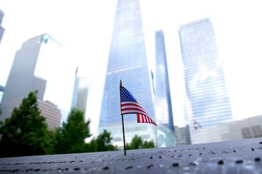 American Flag at The Freedom Tower in New York /// Vinjatek