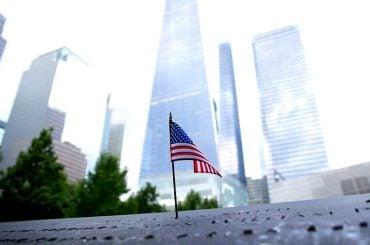 American Flag at The Freedom Tower in New York /// Vinjatek