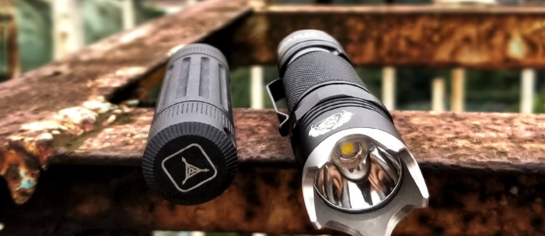 URBEX Gear in Hanoi, Vietnam: Black Scout Survival BSS Flashlight and Triple Aught Design Life Capsule Omega /// Vinjatek