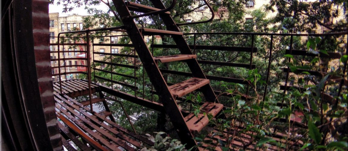 "Condemned Bronx Apartment Fire Escape ""Balcony"" in New York /// Vinjatek"