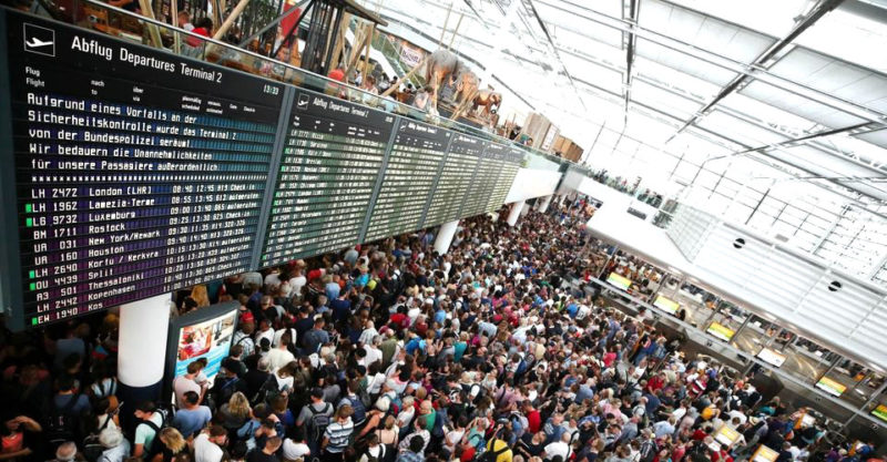 Crowded Airport COVID-19 Pandemic /// Urban Survival Site