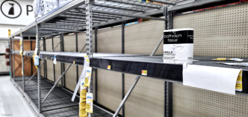 Last Toilet Paper on The Shelves Aisle at Walmart /// Tradecraft [trdcrft]