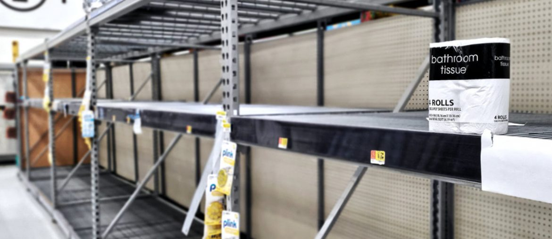 Last Toilet Paper on The Shelves Aisle at Walmart /// Vinjatek