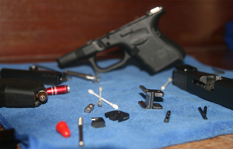 Prepare your gun cleaning area